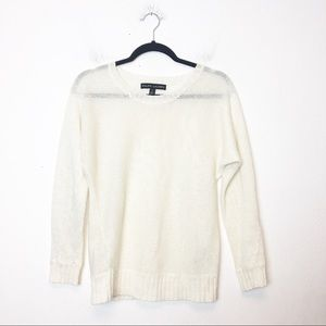 Ralph Lauren Black Label Cream Linen Blend Sweater